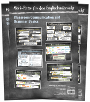 "3er-Set ""Merk-Poster für den Englischunterricht - Classroom Communication and Grammar Basics"""