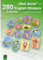 """Well done!"" – 280 English-Stickers"